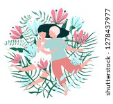 flowers and lovers hug... | Shutterstock .eps vector #1278437977