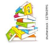 vector illustration of pile of... | Shutterstock .eps vector #127843991