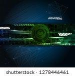 abstract technology vector... | Shutterstock .eps vector #1278446461