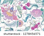 seamless pattern with stylized... | Shutterstock .eps vector #1278456571