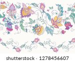 seamless pattern with stylized... | Shutterstock .eps vector #1278456607
