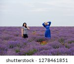 two young girls with different... | Shutterstock . vector #1278461851
