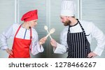 culinary battle of two chefs.... | Shutterstock . vector #1278466267
