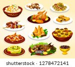 ramadan holiday food of iftar... | Shutterstock .eps vector #1278472141