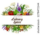 culinary spices with vegetable... | Shutterstock .eps vector #1278472144