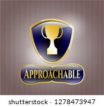 gold shiny badge with trophy... | Shutterstock .eps vector #1278473947