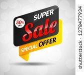 black special offer sticker   Shutterstock .eps vector #1278477934