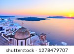 santorini and aegean sea at...   Shutterstock . vector #1278479707