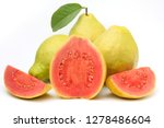 close up guava fruit  pink ... | Shutterstock . vector #1278486604