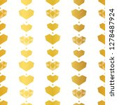 golden yellow geometric hearts...   Shutterstock .eps vector #1278487924