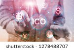 ico   initial coin offering ... | Shutterstock . vector #1278488707