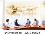 image of businesspeople at... | Shutterstock . vector #127850525