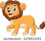 cute baby lion cartoon | Shutterstock .eps vector #1278521341
