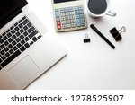 office elements with white...   Shutterstock . vector #1278525907