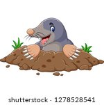cartoon mole come out of the... | Shutterstock .eps vector #1278528541