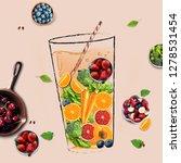 ingredients of various fruits... | Shutterstock . vector #1278531454