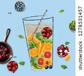 ingredients of various fruits... | Shutterstock . vector #1278531457