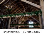 Inside Of Old Wooden Barn...