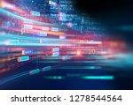 abstract  futuristic... | Shutterstock . vector #1278544564