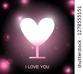 heart shaped lamp. design... | Shutterstock .eps vector #1278555151