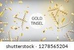modern christmas tinsel... | Shutterstock .eps vector #1278565204