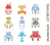robot character icons set | Shutterstock .eps vector #1278571951