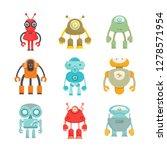 robot character icons set | Shutterstock .eps vector #1278571954