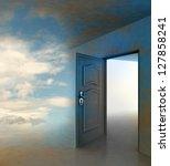 doorway passage leading to... | Shutterstock . vector #127858241