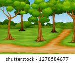 cartoon of forest scene with... | Shutterstock .eps vector #1278584677