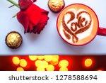 drawing of a heart with an... | Shutterstock . vector #1278588694