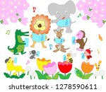 concert of animals and insects... | Shutterstock .eps vector #1278590611