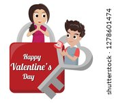 valentine card with couple...   Shutterstock .eps vector #1278601474