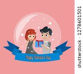 valentine card with couple... | Shutterstock .eps vector #1278601501