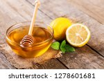 fresh lemon and honey with mint ... | Shutterstock . vector #1278601681
