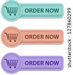 order now commercial web labels ... | Shutterstock .eps vector #127860299