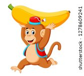 the circus monkey playing and... | Shutterstock . vector #1278609241