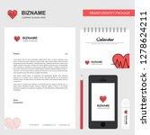 heart ecg business letterhead ...   Shutterstock .eps vector #1278624211