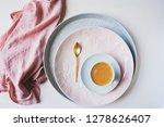 set of spring dishware on white ... | Shutterstock . vector #1278626407