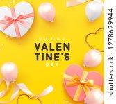 valentines day banner.... | Shutterstock .eps vector #1278629944