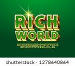 vector chic logo rich world.... | Shutterstock .eps vector #1278640864