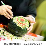 Thai Fruit Carving With Hand ...