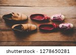 shoes  three pairs of dad  mom  ...   Shutterstock . vector #1278650281