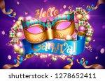 venice carnival party design... | Shutterstock .eps vector #1278652411