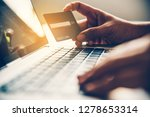 hand holding a credit card in...   Shutterstock . vector #1278653314