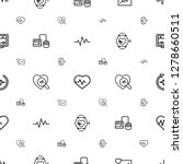 pulse icons pattern seamless... | Shutterstock .eps vector #1278660511