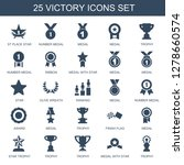 25 victory icons. trendy... | Shutterstock .eps vector #1278660574