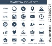 25 arrow icons. trendy arrow... | Shutterstock .eps vector #1278660724