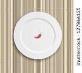 Dinner Plate On Bamboo Napkin....