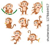 the collection of the monkey... | Shutterstock .eps vector #1278664417