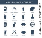 16 juice icons. trendy juice... | Shutterstock .eps vector #1278673867